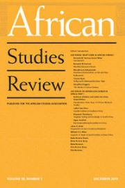 African Studies Review Volume 58 - Issue 3 -