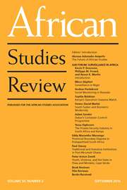 African Studies Review Volume 59 - Issue 2 -
