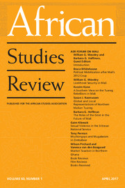 African Studies Review Volume 60 - Issue 1 -