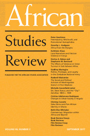 African Studies Review Volume 60 - Issue 2 -