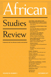 African Studies Review Volume 60 - Issue 3 -