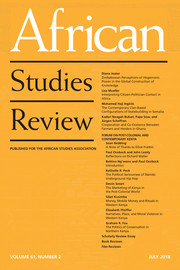 African Studies Review Volume 61 - Issue 2 -