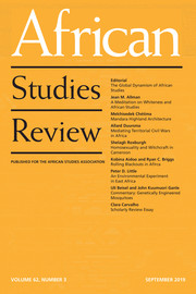African Studies Review Volume 62 - Issue 3 -