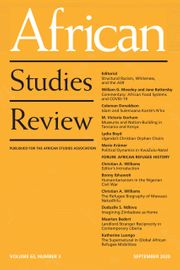 African Studies Review Volume 63 - Issue 3 -