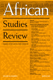 African Studies Review Volume 64 - Issue 1 -