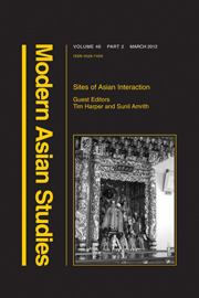 Modern Asian Studies Volume 46 - Issue 2 -  Sites of Asian Interaction