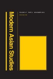 Modern Asian Studies Volume 47 - Issue 6 -