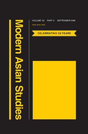 Modern Asian Studies Volume 50 - Issue 5 -