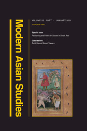 Modern Asian Studies Volume 53 - Special Issue1 -  Petitioning and Political Cultures in South Asia