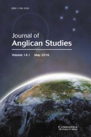 Journal of Anglican Studies Volume 14 - Issue 1 -