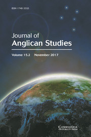 Journal of Anglican Studies Volume 15 - Issue 2 -
