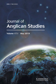 Journal of Anglican Studies Volume 17 - Issue 1 -