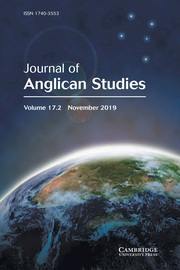 Journal of Anglican Studies Volume 17 - Issue 2 -