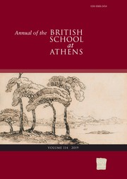 Annual of the British School at Athens Volume 114 - Issue  -