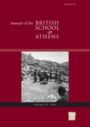 Annual of the British School at Athens Volume 115 - Issue  -