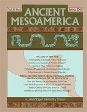 Ancient Mesoamerica Volume 19 - Issue 1 -
