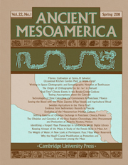 Ancient Mesoamerica Volume 22 - Issue 1 -