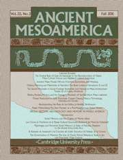 Ancient Mesoamerica Volume 22 - Issue 2 -