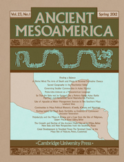 Ancient Mesoamerica Volume 23 - Issue 1 -