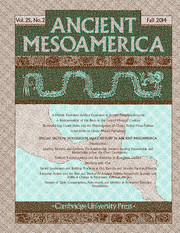 Ancient Mesoamerica Volume 25 - Issue 2 -