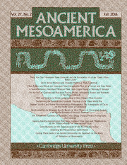 Ancient Mesoamerica Volume 27 - Issue 2 -