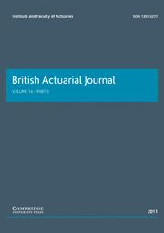 British Actuarial Journal Volume 16 - Issue 3 -