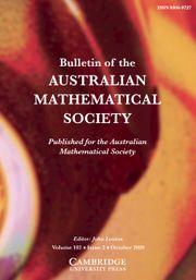 Bulletin of the Australian Mathematical Society Volume 102 - Issue 2 -