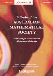 Bulletin of the Australian Mathematical Society Volume 77 - Issue 1 -
