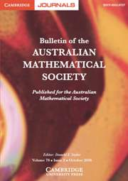Bulletin of the Australian Mathematical Society Volume 78 - Issue 2 -