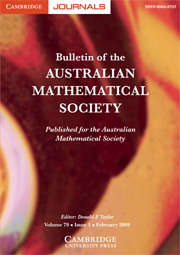 Bulletin of the Australian Mathematical Society Volume 79 - Issue 1 -