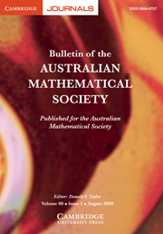 Bulletin of the Australian Mathematical Society Volume 80 - Issue 1 -