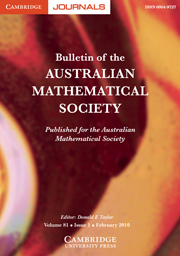 Bulletin of the Australian Mathematical Society Volume 81 - Issue 1 -