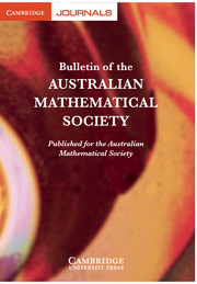 Bulletin of the Australian Mathematical Society Volume 86 - Issue 1 -
