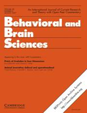 Behavioral and Brain Sciences Volume 30 - Issue 4 -
