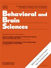 Behavioral and Brain Sciences Volume 31 - Issue 2 -
