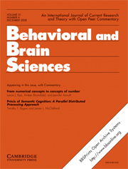 Behavioral and Brain Sciences Volume 31 - Issue 6 -