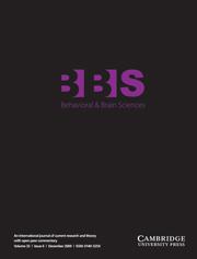 Behavioral and Brain Sciences Volume 32 - Issue 6 -