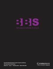 Behavioral and Brain Sciences Volume 37 - Issue 1 -