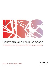 Behavioral and Brain Sciences Volume 38 - Issue  -