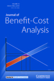 Journal of Benefit-Cost Analysis Volume 10 - Issue 3 -