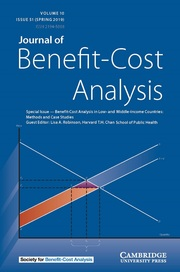 Journal of Benefit-Cost Analysis Volume 10 - Issue S1 -  Special Issue — Benefit-Cost Analysis in Low- and Middle-Income Countries: Methods and Case Studies