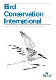 Bird Conservation International Volume 13 - Issue 2 -