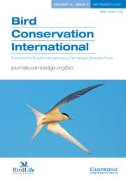 Bird Conservation International Volume 19 - Issue 3 -