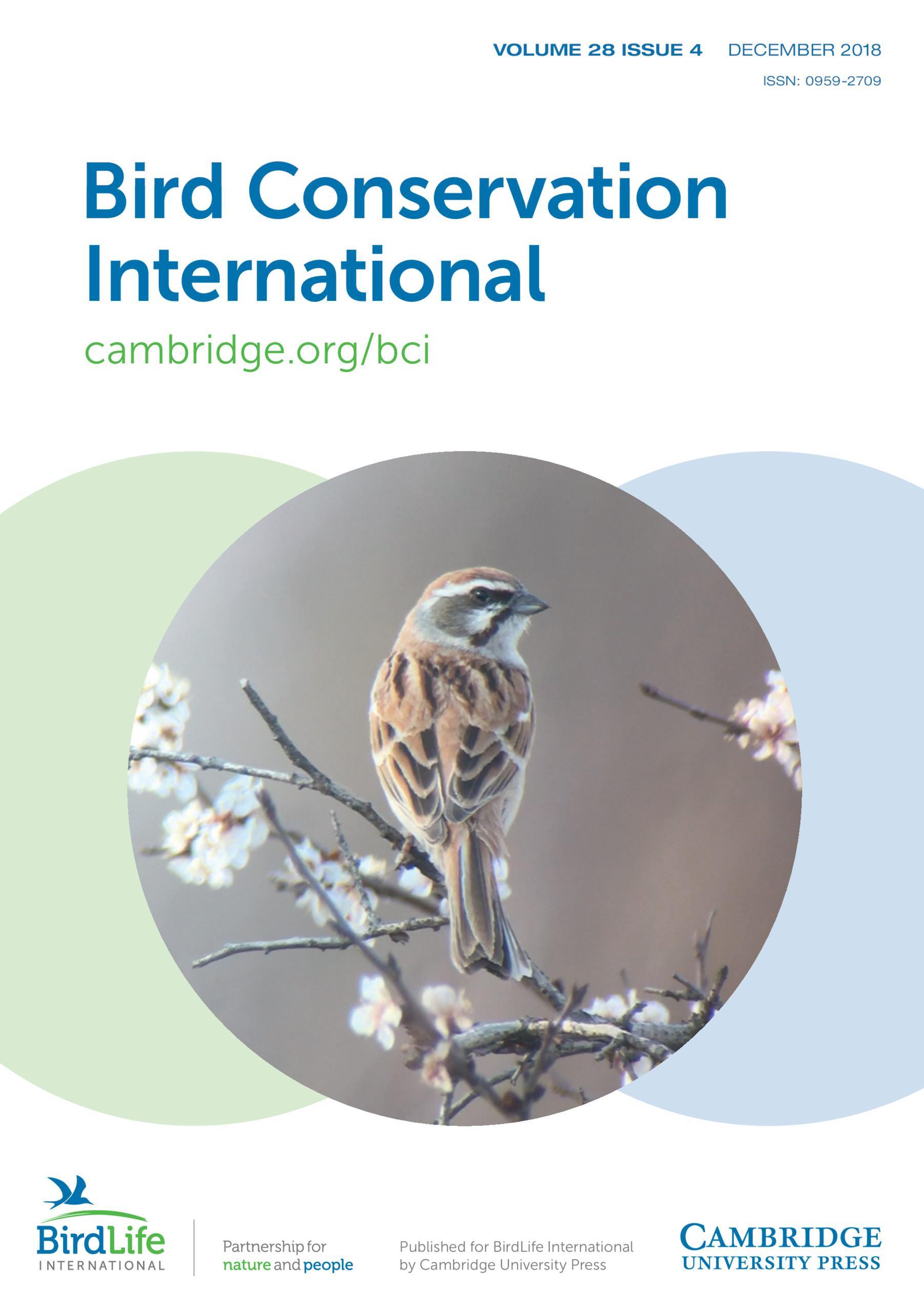 Bird Conservation International Volume 28 - Issue 4 -