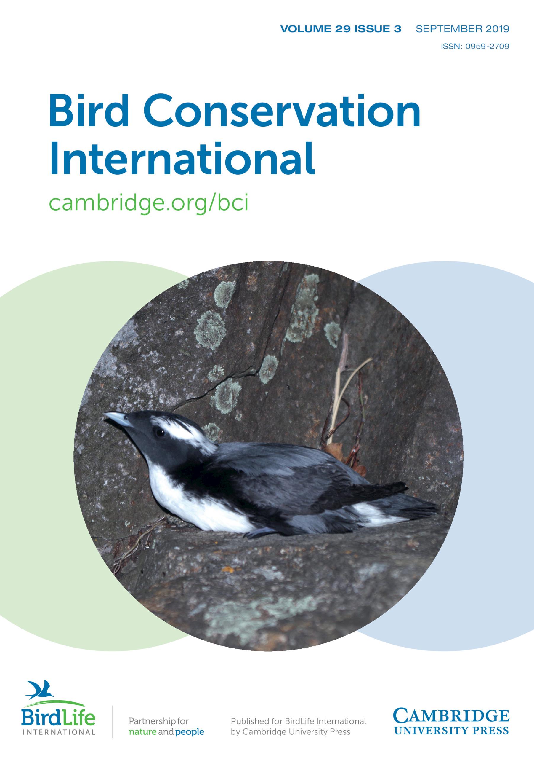 Bird Conservation International   Latest issue   Cambridge Core