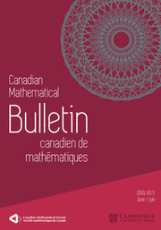 Canadian Mathematical Bulletin Volume 62 - Issue 2 -