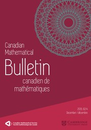 Canadian Mathematical Bulletin Volume 62 - Issue 4 -