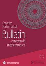 Canadian Mathematical Bulletin Volume 63 - Issue 2 -
