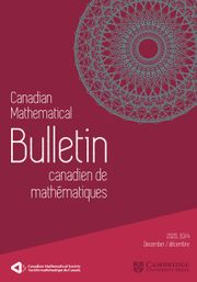 Canadian Mathematical Bulletin Volume 63 - Issue 4 -