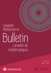 Canadian Mathematical Bulletin Volume 64 - Issue 1 -